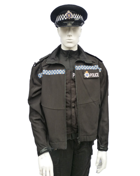 police neoprene jacket